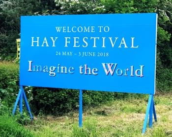 Hay Fest 18 Sign