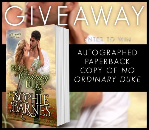 No Ordinary Duke Giveaway banner