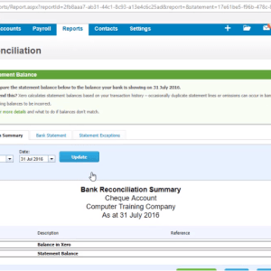Xero End of Month Bank Reconciliation Training Course 513 - How to Run a Bank Reconciliation Report