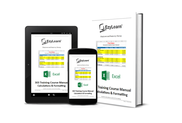 Excel for Dummies, Excel for Idiots, Microsoft Excel Beginners Training Course Manual, Workbook & Practice Exercise files - 303 Calculations & Formatting Cells