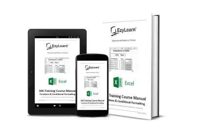 Microsoft Excel Intermediate Training Course Manual, Workbook & Practice Exercise files - 306 Learn complex functions & conditional formatting