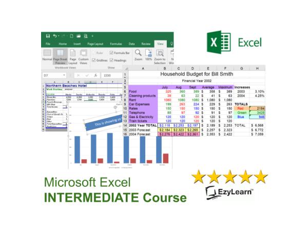 Microsoft Office Excel Online Intermediate Training Course - 3D formulas, charts & graphs, print setup