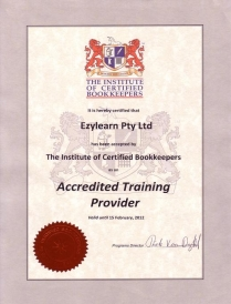 Institute of Certified Bookkeepers Accredited online MYOB Training Course