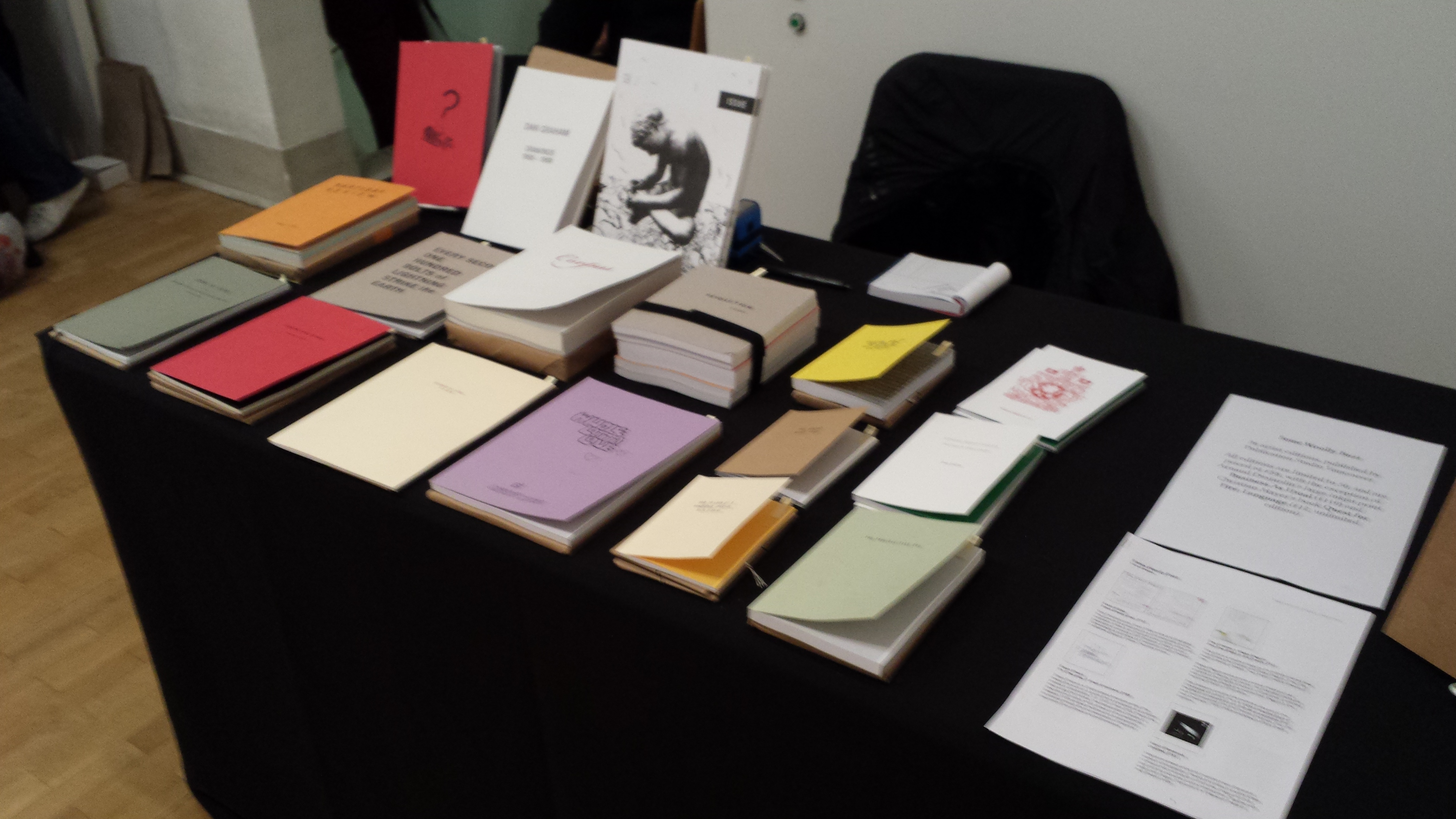 psv table at london art book fair 2014