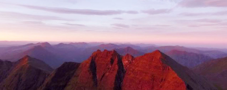 Filming the Scottish landscape with drones