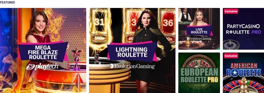 Рулетка в казино Party Casino