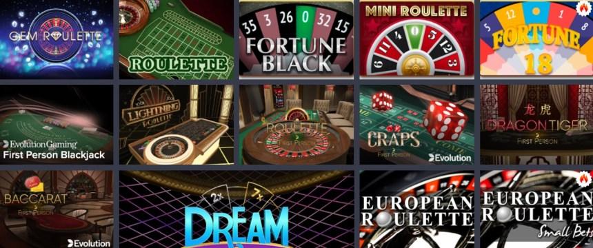 Настольные игры в казино MrLuck
