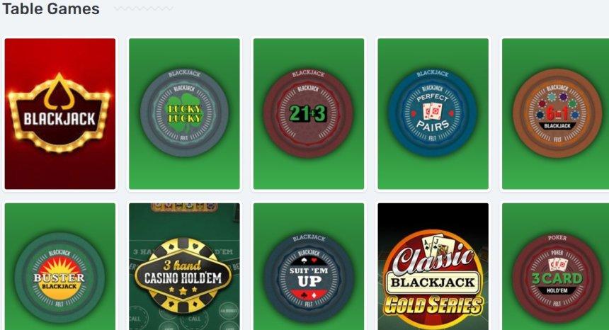 Настольные игры в казино Casilando