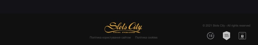Интерфейс казино Slots City