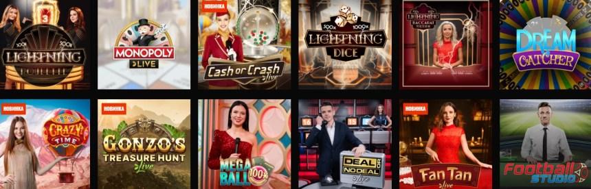 Живые игры в казино Fight Club