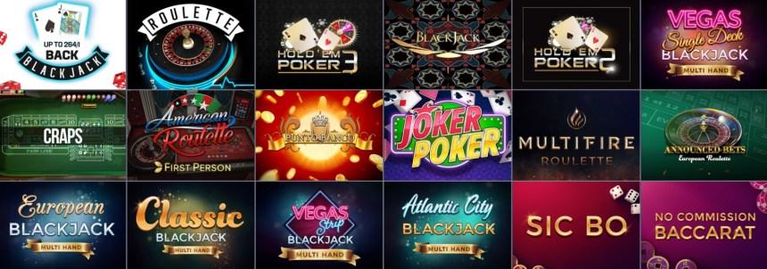 Настольные игры в казино Evobet