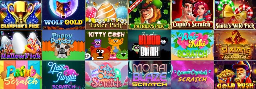 Скретч-игры в казино Evobet