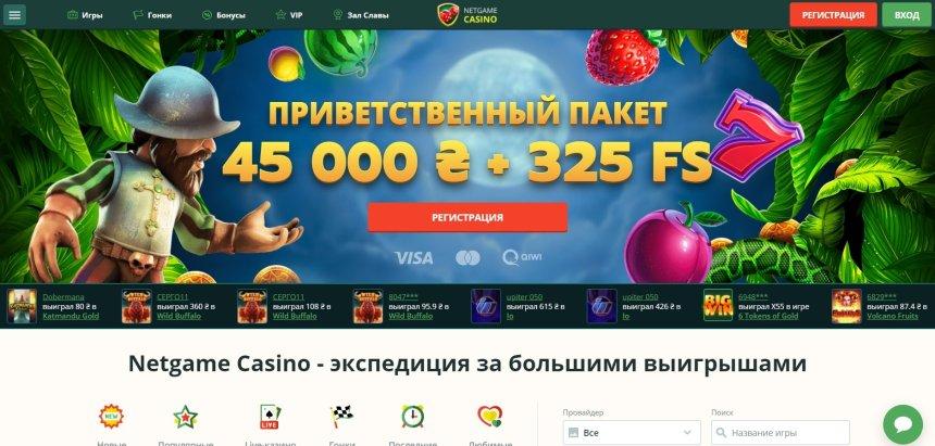Интерфейс Netgame Casino