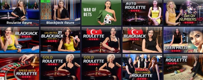 Живое казино в ZigZag Sport