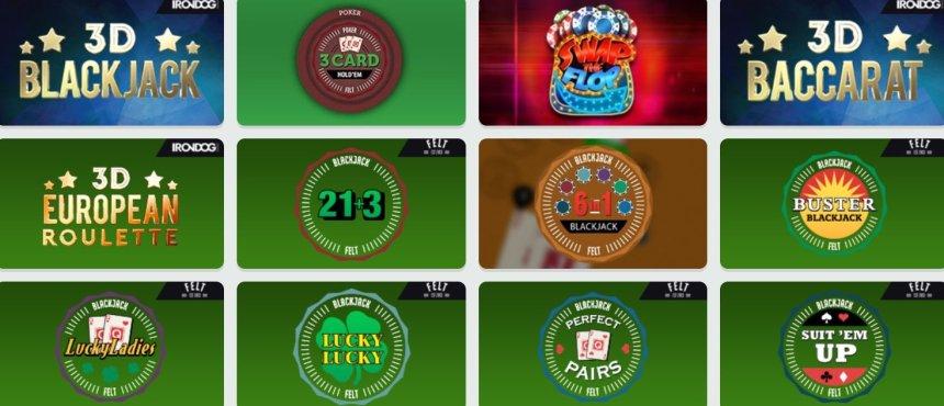 Настольные игры в казино Fruity Casa