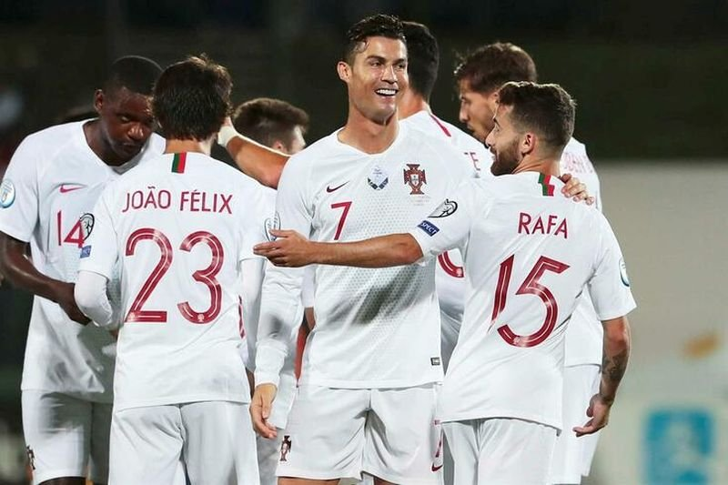 Радость сборной Португалии