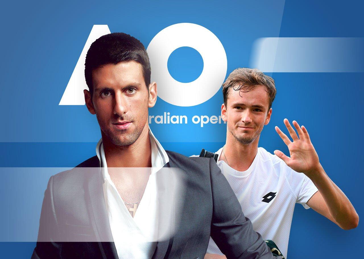 Джокович - Медведєв: букмекери очікують запеклої заруби у фіналі Australian Open