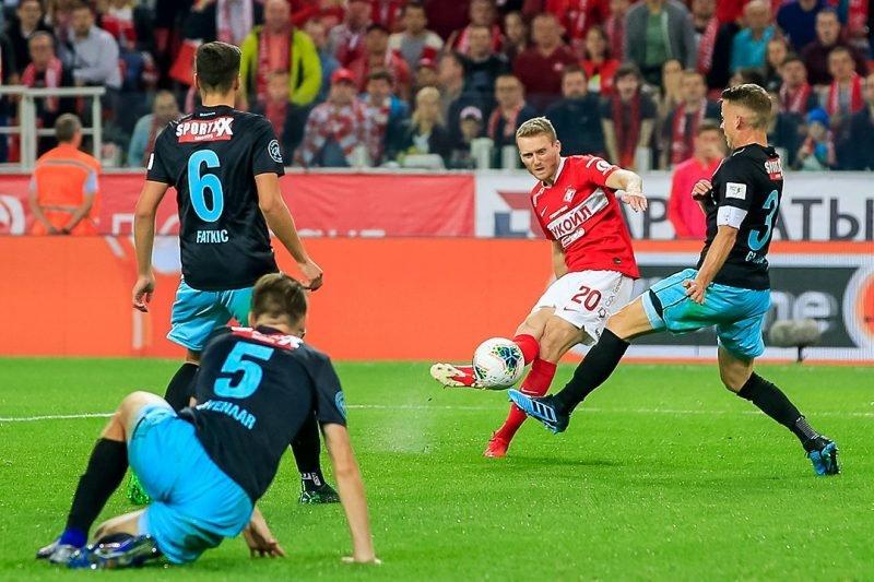 «Спартак» обыграл «Тун» в домашнем матче Лиги Европы