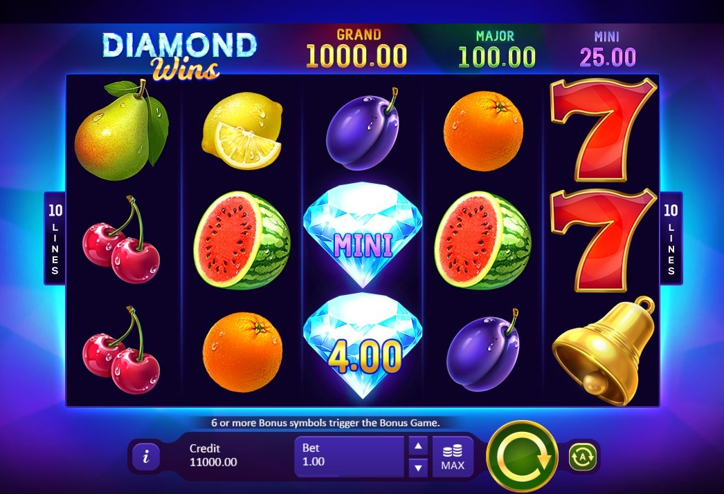 Playson презентовал слот Diamond Wins: Hold and Win