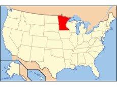 Миннесота на карте США