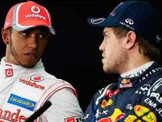 Хэмильтон (слева) и Феттель (справа) имеют больше шансов выиграть Гран-при Испании, нежели другие участники гонки, считают букмекеры