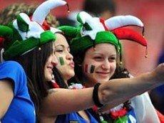 Поклонницы сборной Италии