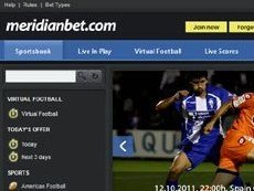 Скриншот сайта Meridian Bet