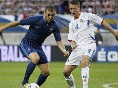 Эпизод матча между сборными Франции и Англии