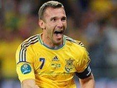 Нападающий сборной Украины Андрей Шевченко