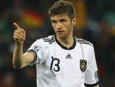 Полузащитник сборной Германии Томас Мюллер