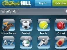 Интерфейс приложения William Hill Sportsbook