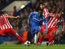 Эпизод матча между «Челси» и «Атлетико»