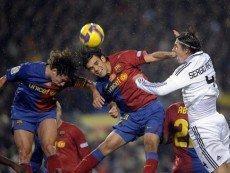 Эпизод матча между 'Барселоной' и 'Реалом'