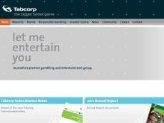 Скриншот сайта Tabcorp