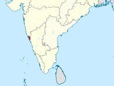 Гоа на карте Индии