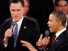 Митт Ромни (слева) и Барак Обама