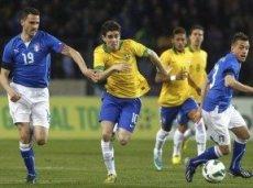 Бразилия и Италия сыграли вничью в последнем товарищеском матче
