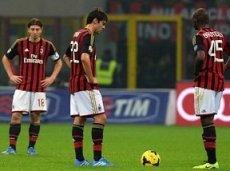 «Милан» не прошел в 1/4 финала Лиги чемпионов в четырех из последних пяти компаний