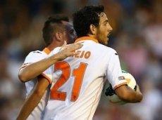 В последнем товарищеском матче против «Милана» «Валенсии» удалось выиграть со счетом 2:1