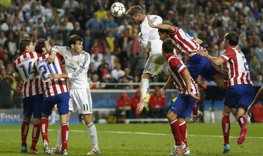 Серхио Рамос в финале Лиги чемпионов «Реал» - «Атлетико» спас «Королевский клуб на последних секундах
