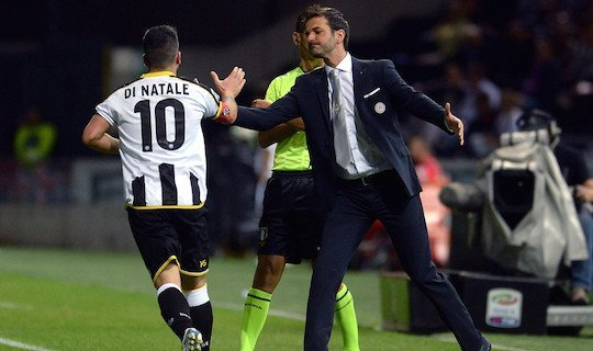 Ди Натале согласился провести еще год в футболе и в первом же туре Серии А оформил дубль