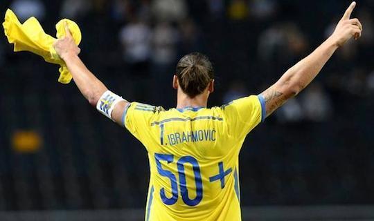 Ибрагимович даже подготовил специальную футболку на матч с эстонцами