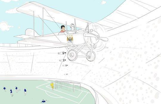 Сделаем с Агуэро пару кругов над вражескими владениями - вовсе не для аэрофотосъемки!