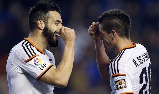Альваро Негредо забил первый важный гол в составе валенсийцев