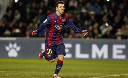 Лео Месси отстает от Роналду в списке бомбардиров Примеры 2014/2015 уже на два мяча