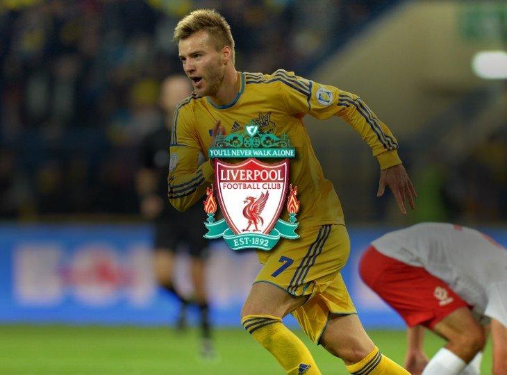 Поставить на переход Ярмоленко в «Ливерпуль» можно за 3,0