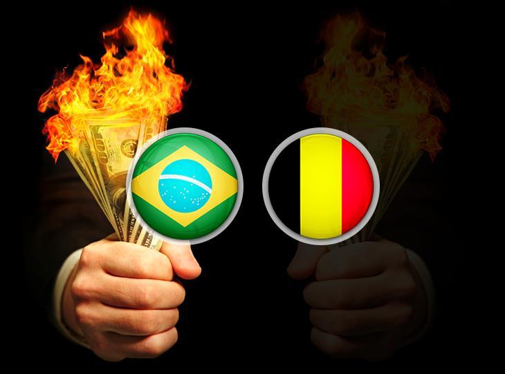 Клиент букмекера проиграл 1,5 млн рублей из-за матча Бразилия — Бельгия