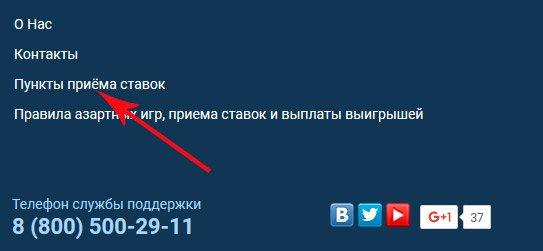 Ссылка на адреса ППС 1xstavka