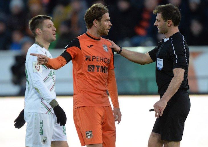 «Урал» опротестовал красную карточку Бикфалви, полученную в полуфинале кубка России