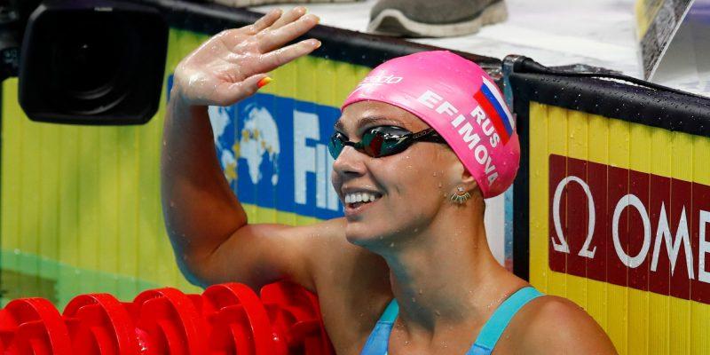 Российская пловчиха Ефимова – о золотой медали